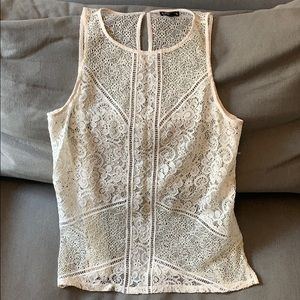 Express cream lace top